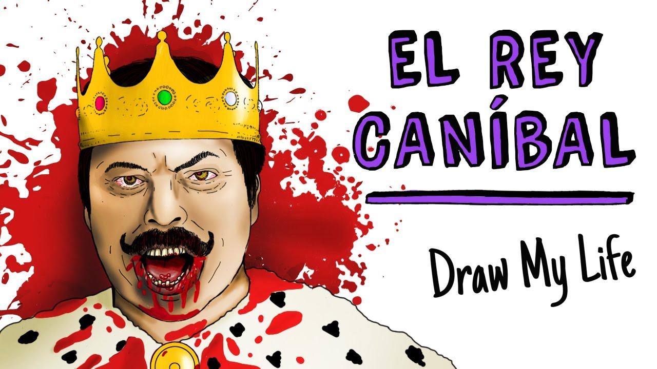El Rey Caníbal 🍖 | Draw My Life Terror