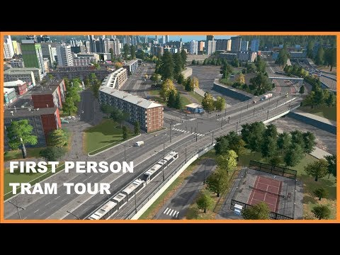 City Wide Tram Tour (First Person Cinematic) | Cities Skylines |