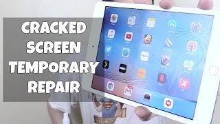 Temporary Repair for Cracked Screen