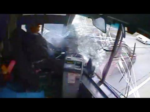 Runaway Bus Crashes