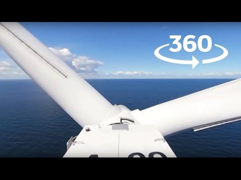 See the view from the top of an offshore wind turbine in 360°?