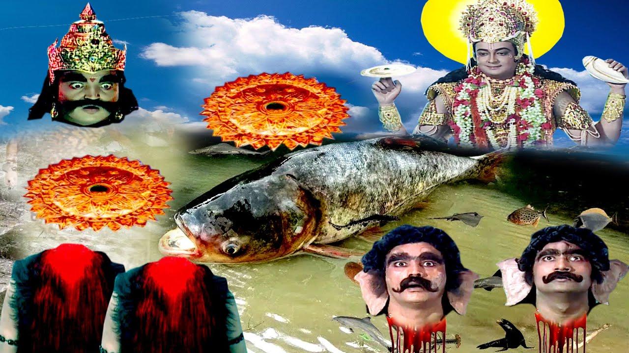 विष्णु के सुदर्शन से कैसे हुआ मधु और कैटभ का भयानक अंत देखिये | #JapTapVrat
