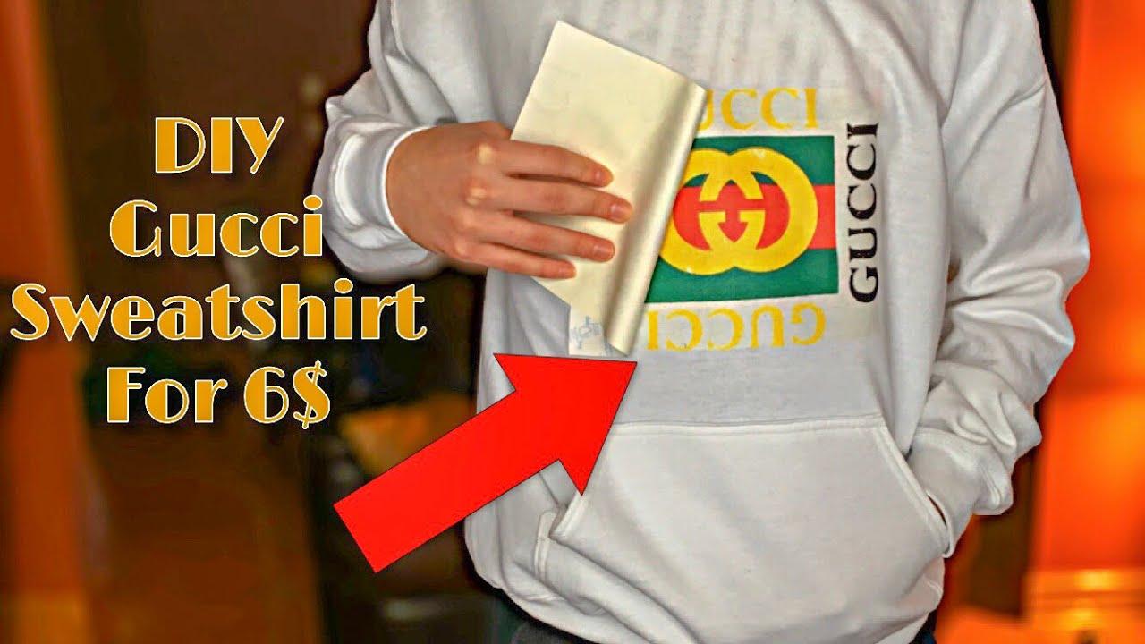 130071c3d2e1 How To Make A  DIY GUCCI SWEATSHIRT  For CHEAP!!! - YouTube