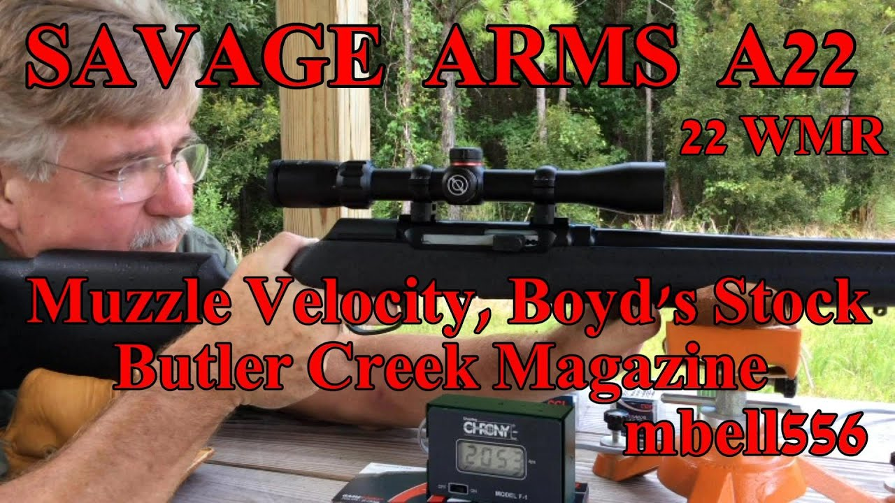 savage arms a22 semi auto 22 mag velocity test boyd s stock