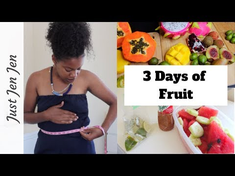 I Only Ate Fruit for 3 Days!- Fruit Cleanse 2018