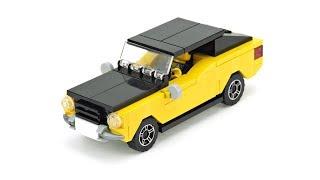 LEGO Muscle Car. MOC Building Instructions