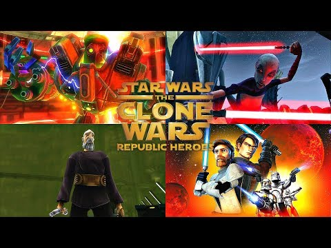 Star Wars The Clone Wars Republic Heroes - ALL BOSS BATTLES