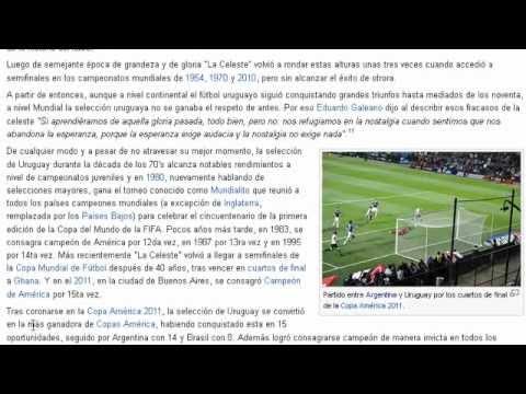 """Historia del Futbol Uruguayo (2012) Info: """"wikipedia"""""""