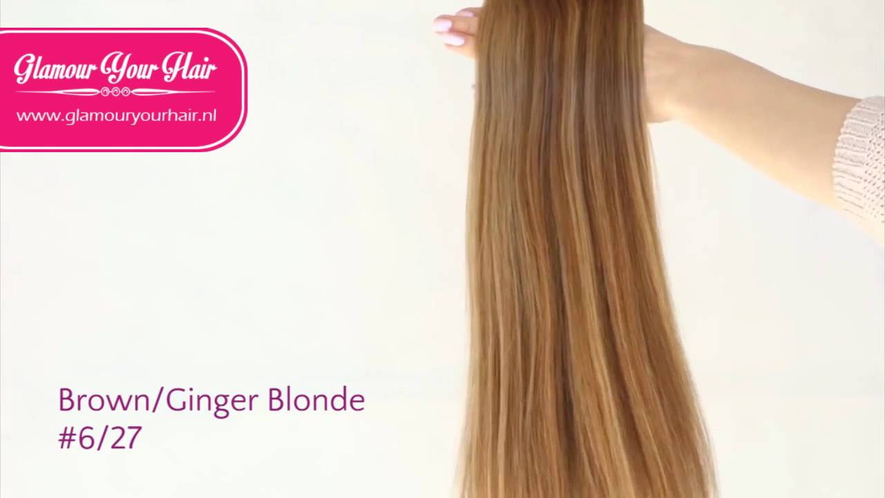 Hairextensions Colour Light Brown Ginger Blonde 627 By