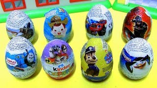 Chocolate Easter Eggs Surprise Incredibles 2 Kinder egg Toy Story Blaze Paw Patrol