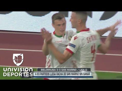 Bielorrusia 4-0 San Marino - GOLES Y RESUMEN - UEFA Nations League