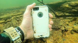 I Found an iPhone Underwater While Searching for Lost Valuables! (Underwater Finds) by : DALLMYD