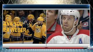 Shea Weber receives touching tribute from Predators in return to Nashville