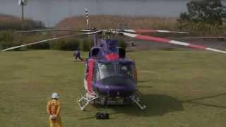 Bell 412EP Takeoff 岐阜県防災航空隊 若鮎Ⅲ JA119V