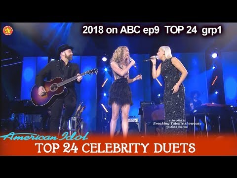 "Gabby Barrett  and Sugarland Duet ""Stay""  TOP 24 American Idol 2018 Celebrity Duets"