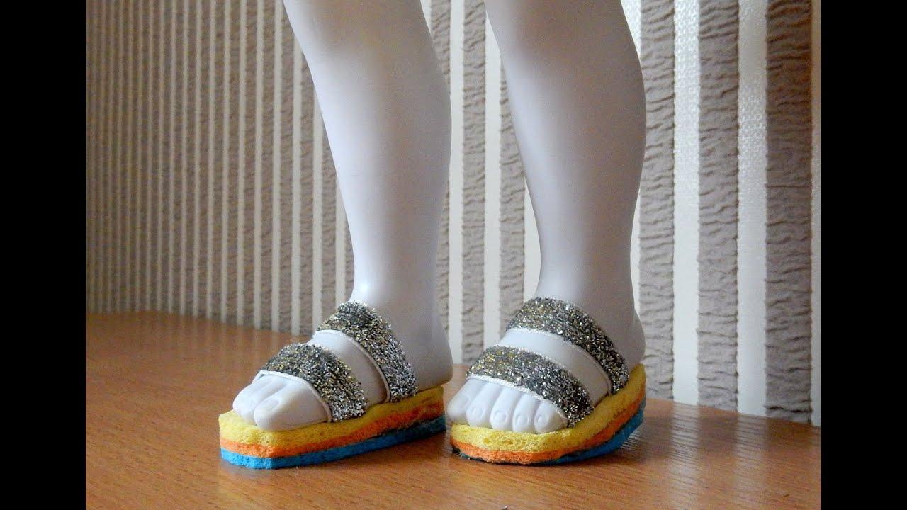 Как сделать красивые туфли для куклы Обувь кукольная - YouTube
