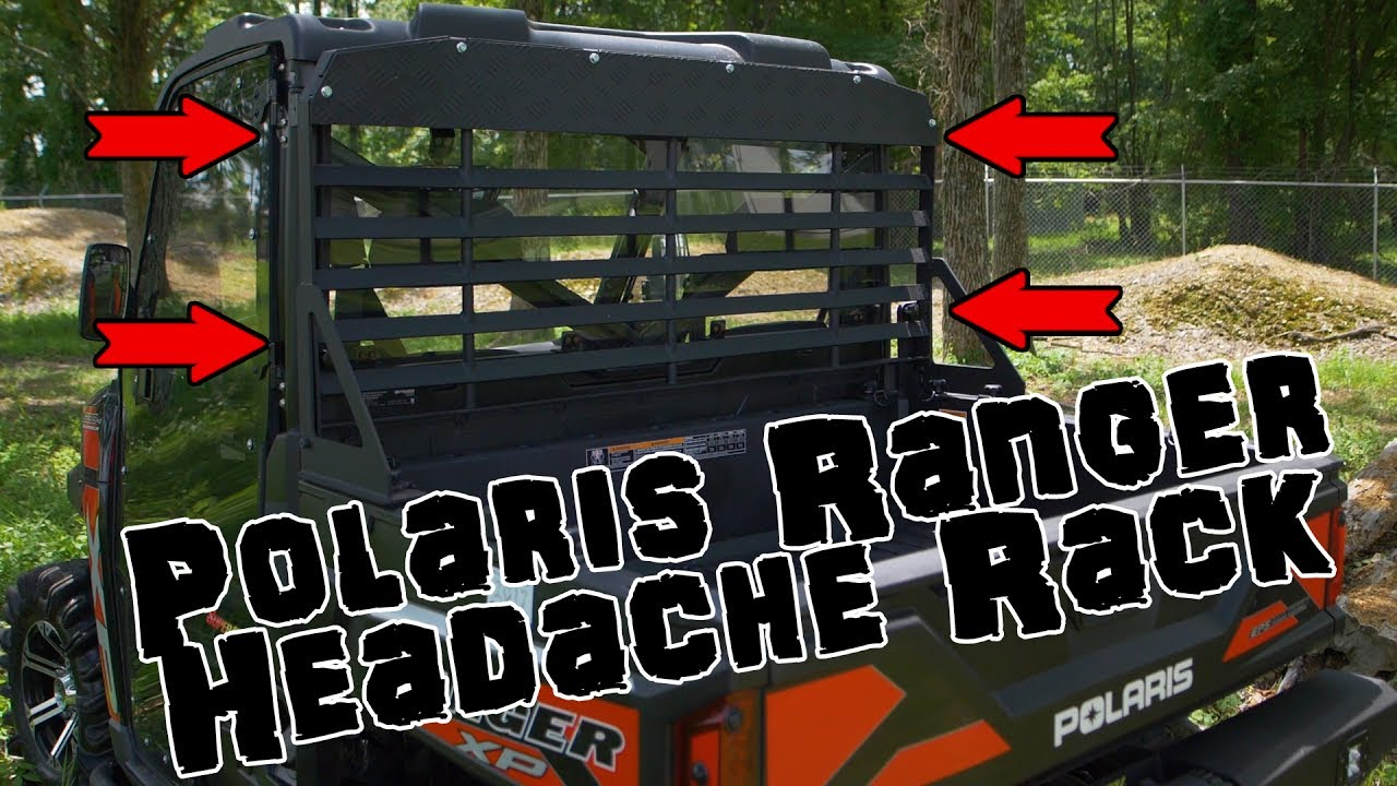 Polaris Ranger Crew 900 >> SuperATV Headache Rack for Polaris Ranger Fullsize - YouTube