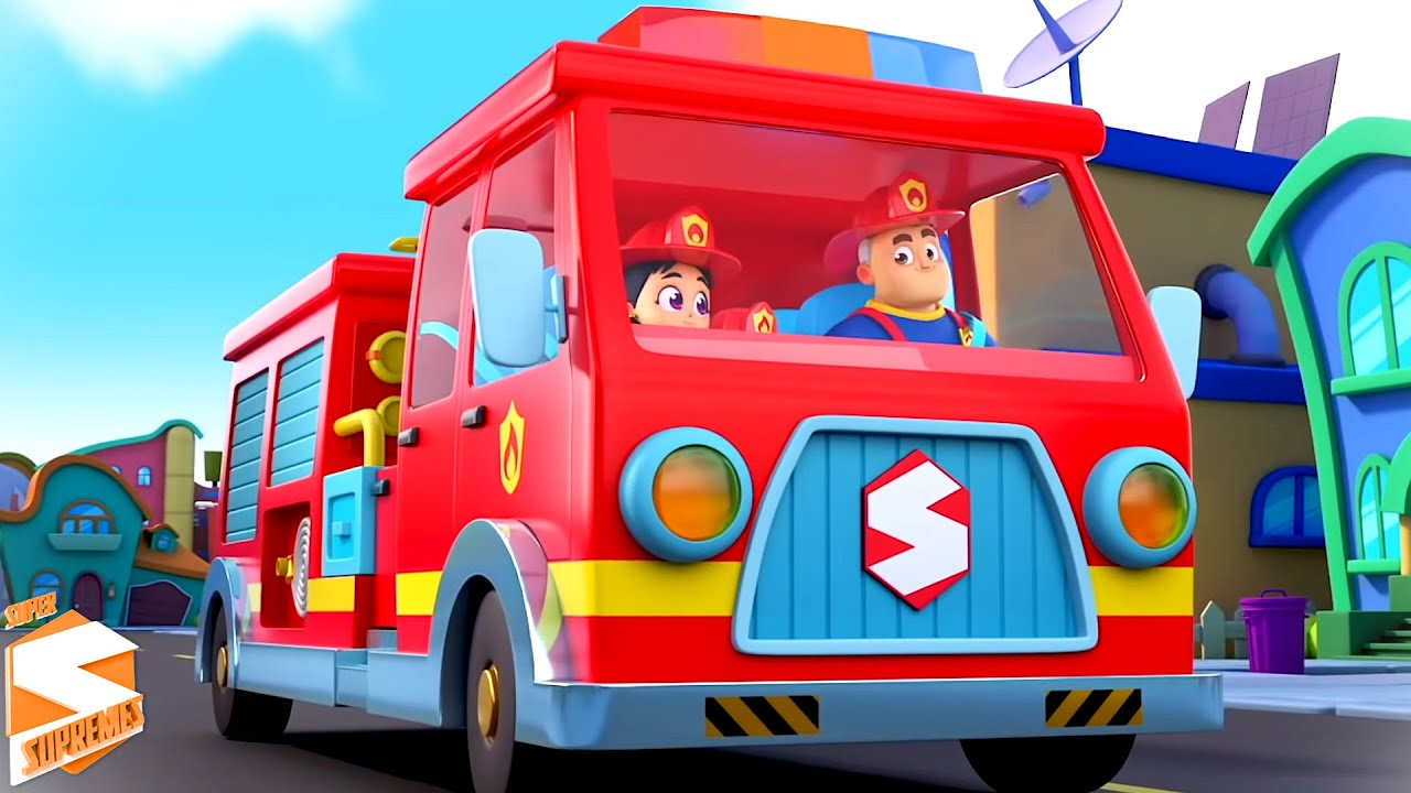 O grande caminhão vermelho de bombeiros | Música Infantil | Kids Tv em Português | Desenhos animado