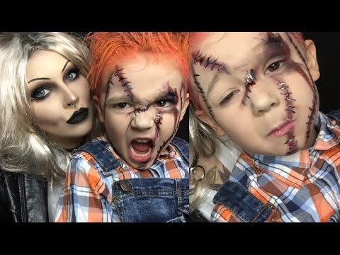 chucky halloween makeup for kids (pt 2)