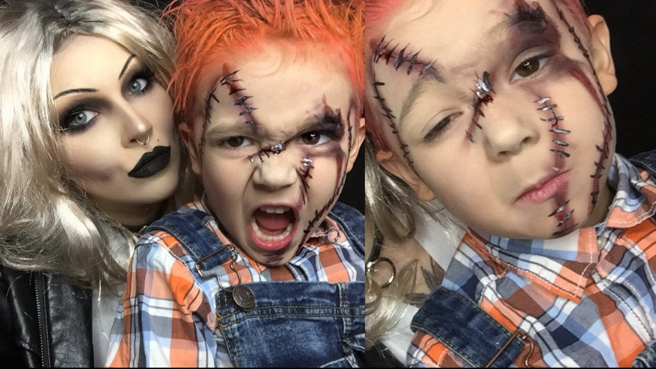 chucky halloween makeup for kids (pt 2) - YouTube