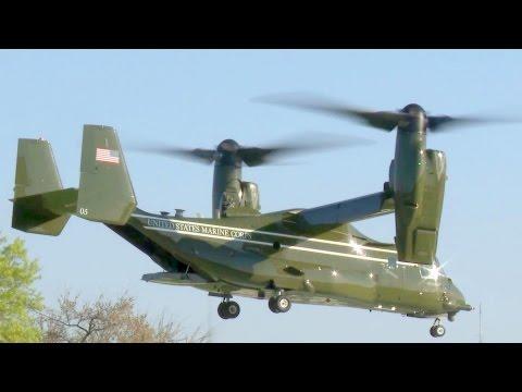 U.S. Presidential Helicopter Squadron MV-22 Osprey Landing/Takeoff