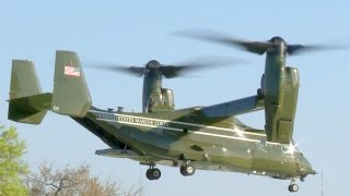 U.S. Presidential Helicopter Squadron MV-22 Osprey Landing/Takeoff