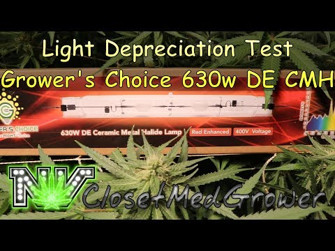 Light Depreciation Test on a Grower's Choice 630w DE CMH
