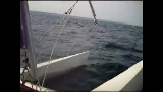 EXTREME SAILING WITH A DART 18 CATAMARAN IN GREECE IN THERMAIKOS GULF