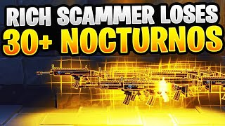 Insanely Rich Scammer perd 30 Nocturnos! (Scammer Obtient Scammed) Fortnite sauver le monde