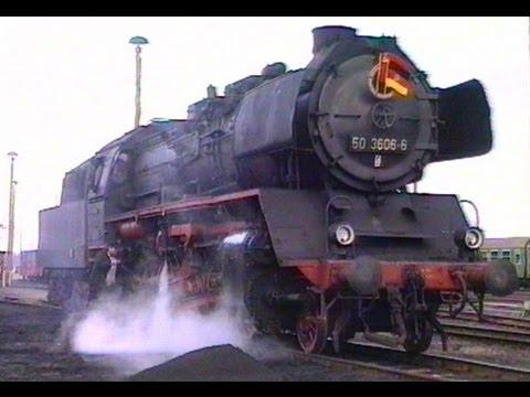 Dampflok 50 3606 im Bw Salzwedel  - April 1994 / Steam Locomotive