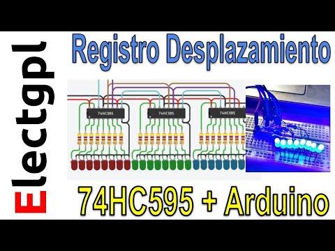 Arduino Y 74HC595 Con LEDs | Registro De Desplazamiento | Sponsor LCSC