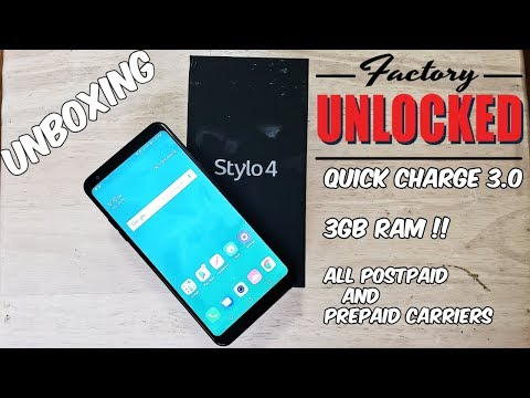 LG Stylo 4 Factory Unlocked (All Carriers) Unboxing and first boot up HD