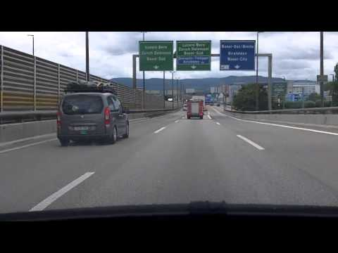 Basel by Motorway - French border towards Zurich