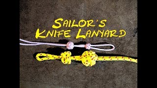 Sailor's Knife Lanyard Knot or Bosuns Whistle (Pipe or Call) Lanyard Knot How to Tie