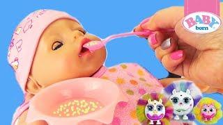 БЕБИ БОН Кормим и играем как МАМА Кукла пупсик BABY BORN Обзор игрушки для девочек Toy Dolls