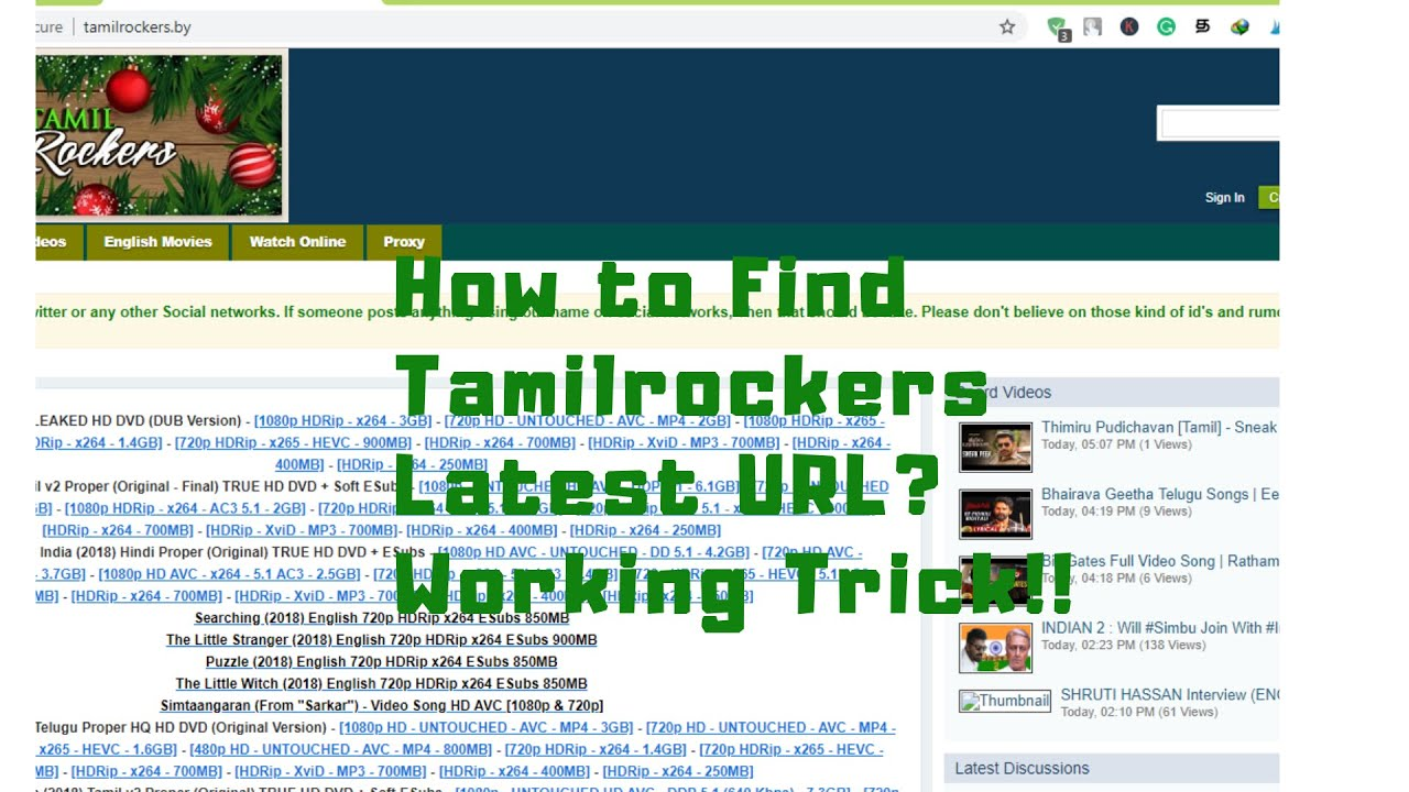 Tamilrockers New Link-How to Find? - (Latest 100% Working Trick With Proof)