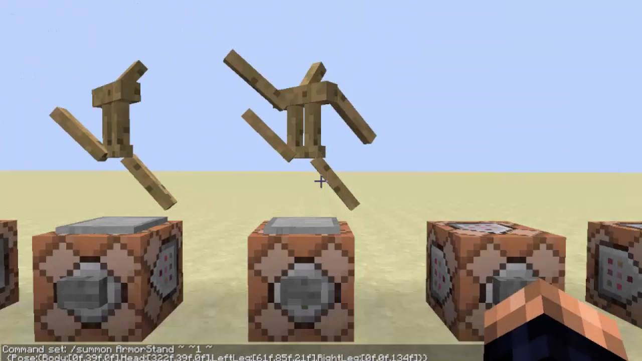how to summon armor stand with arms 1.11