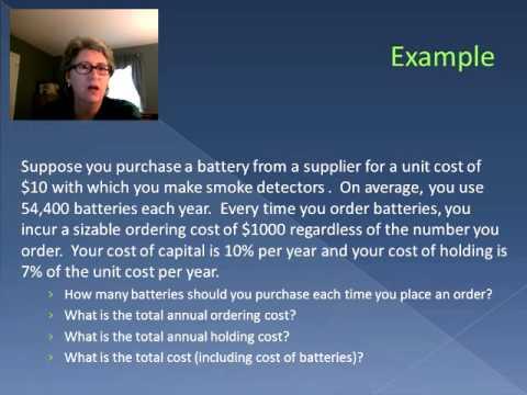 Economic Order Quantity (Video 24)