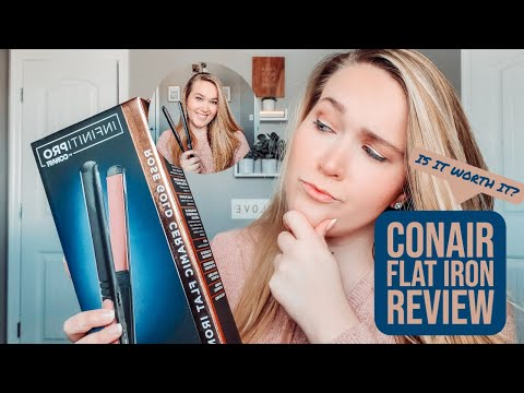 CONAIR INFINITI PRO FLAT IRON REVIEW // Unboxing + Is it Worth it?