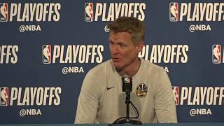 Kerr keeps quiet on starting center, compares season to '98 Bulls run thumbnail