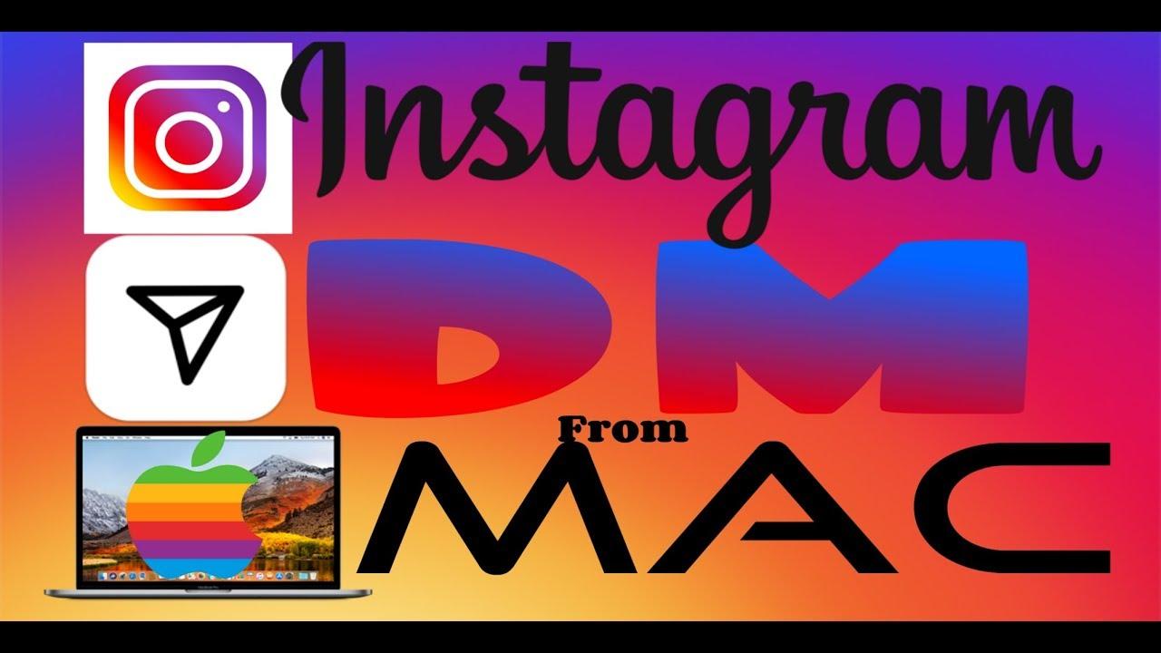 How to send DM through instagram on mac 2019
