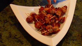Eclectic Entertaining: Bacon & Blue Cheese Dates