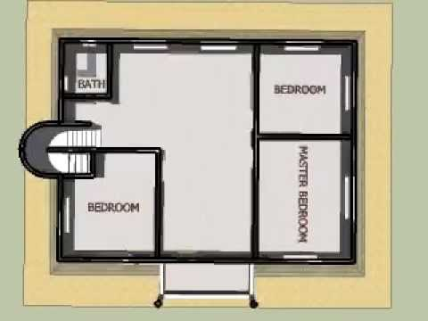house plan w 2nd floorsimple animated - Second Floor Floor Plans