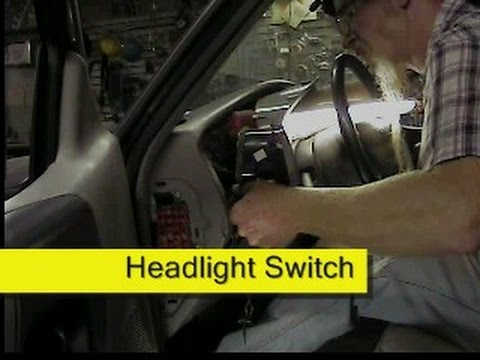 How To Replace A Headlight >> Ford Ranger Headlight Switch - YouTube