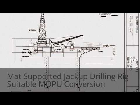 Mat Supported Jackup Drilling Rig