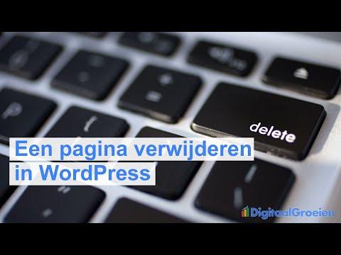 Een WordPress-pagina verwijderen