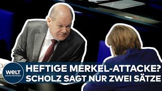 BUNDESTAGSWAHL: Auf die Attacke von Kanzlerin Angela Merkel antwortet Scholz mit einem Kompliment