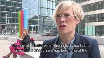 Portret of Finnish correspondent Maria Stenroos