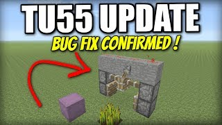 TU55 UPDATE - Bug Fix Confirmed ! Redstone Fix ! Minecraft Xbox / PS4 / PS3 / Wii U / Switch