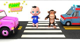 Baby saved funny Monkey from car